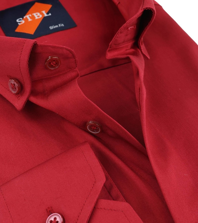 Detail Suitable Hemd Uni Rot