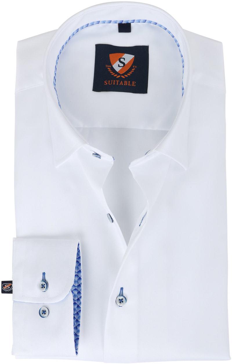 Suitable Hemd Weiss Twill  online kaufen | Suitable