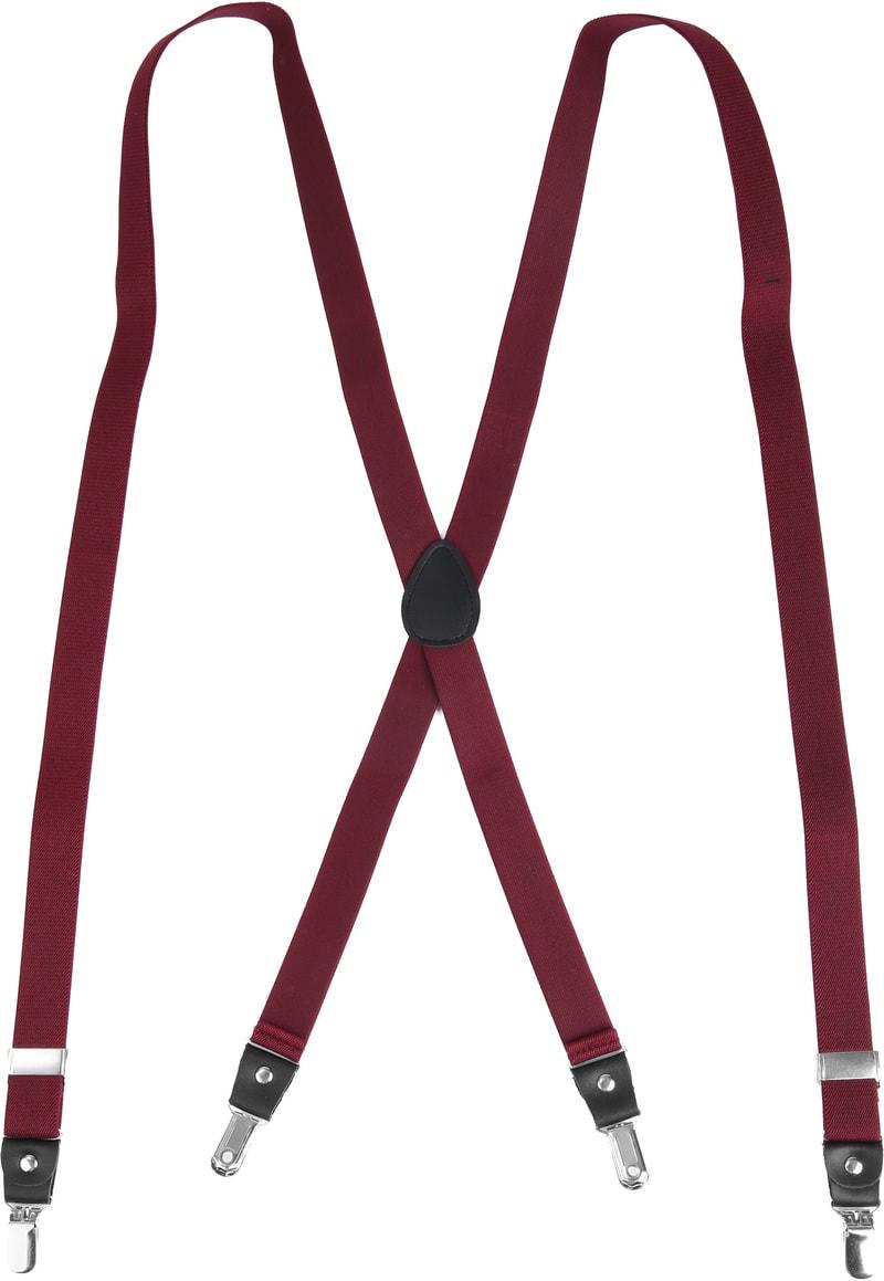 Suitable Hosenträger Bordeaux Rot Foto 1