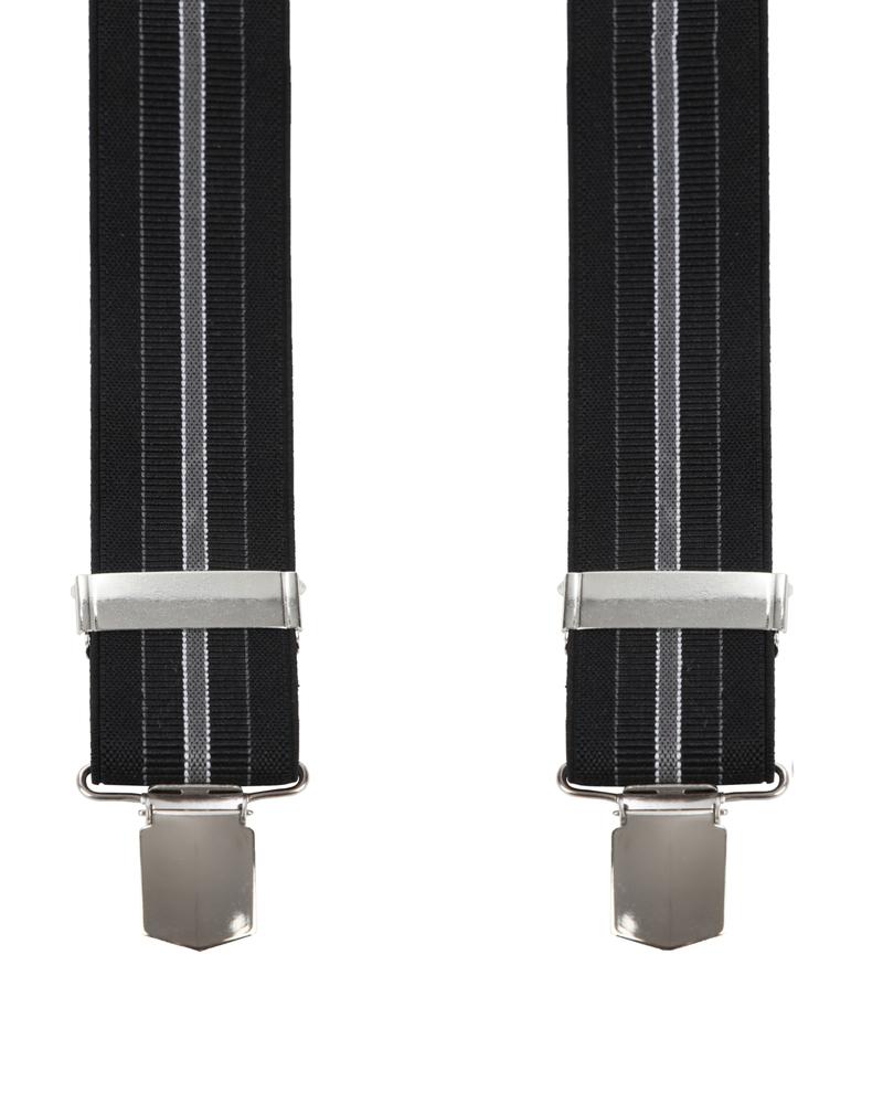 Suitable Hosenträger Streifen Schwarz Foto 0