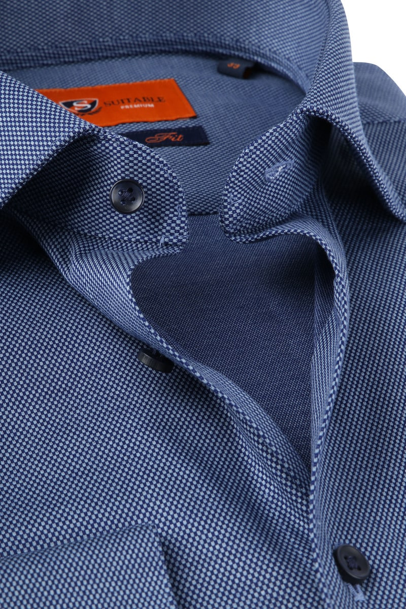 Suitable Jersey Hemd Pique Dunkelblau Foto 1