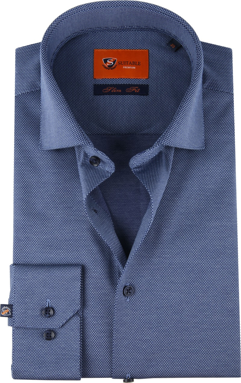Suitable Jersey Shirt Pique Navy photo 0
