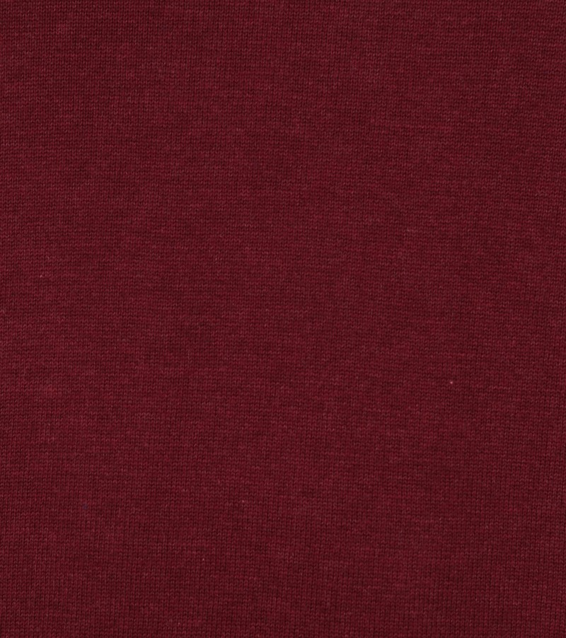 Suitable Katoen Vini Pullover V-Hals Bordeaux