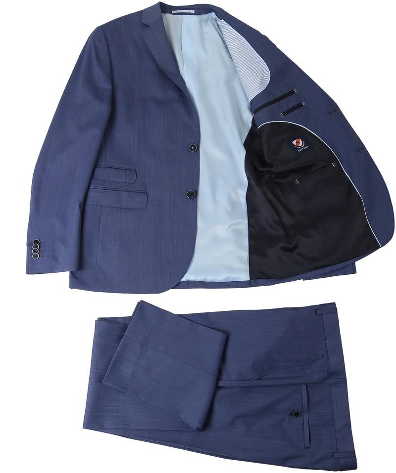 Detail Suitable Kostuum Amsterdam Blauw