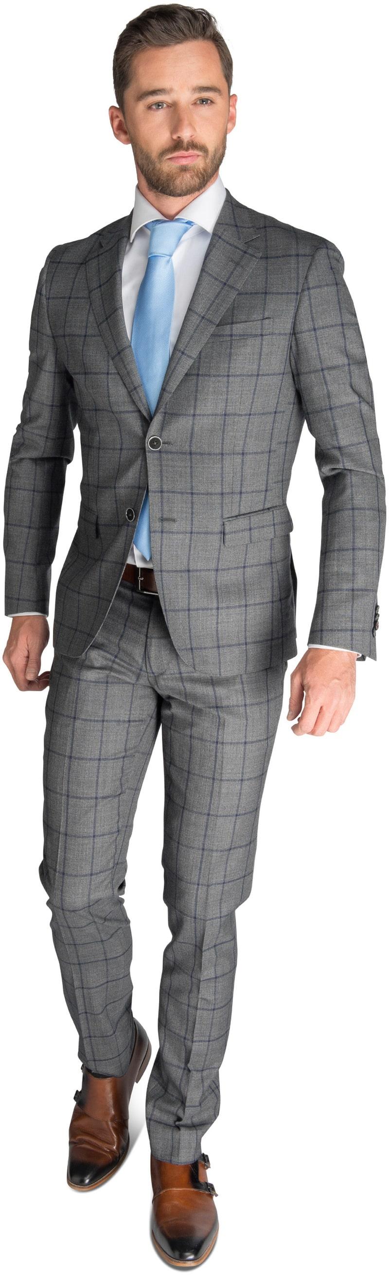Detail Suitable Kostuum Bern Antraciet