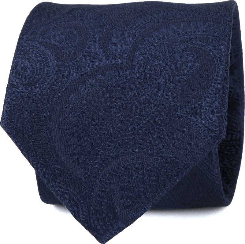 Suitable Krawatte Paisley Dunkelblau Foto 0