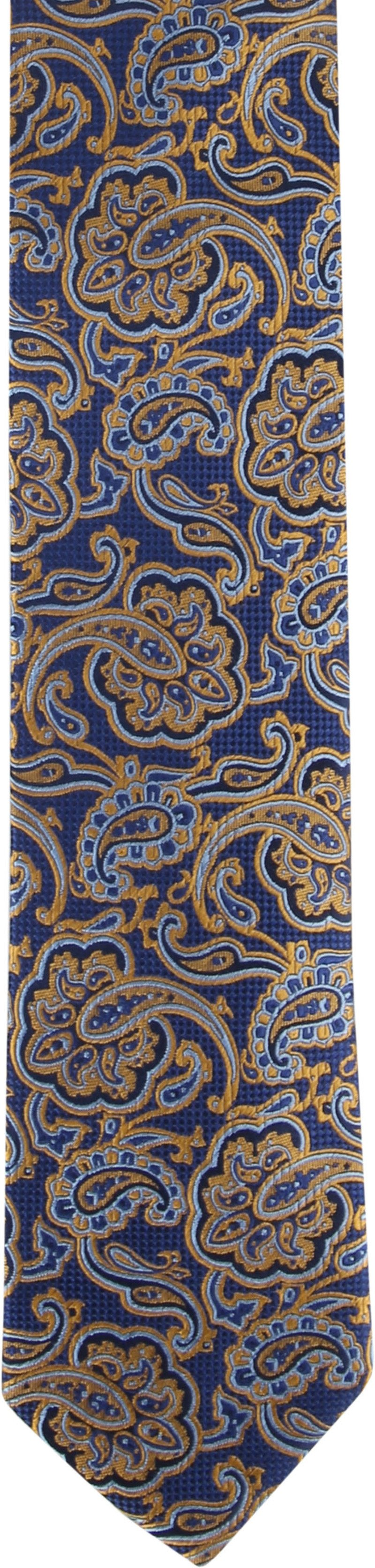 Suitable Krawatte Paisley Navy Gold Foto 1