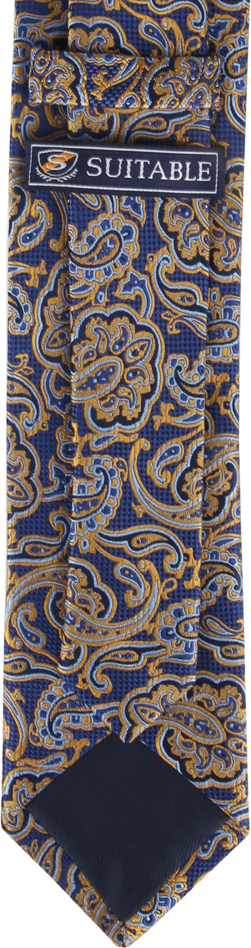 Suitable Krawatte Paisley Navy Gold Foto 2