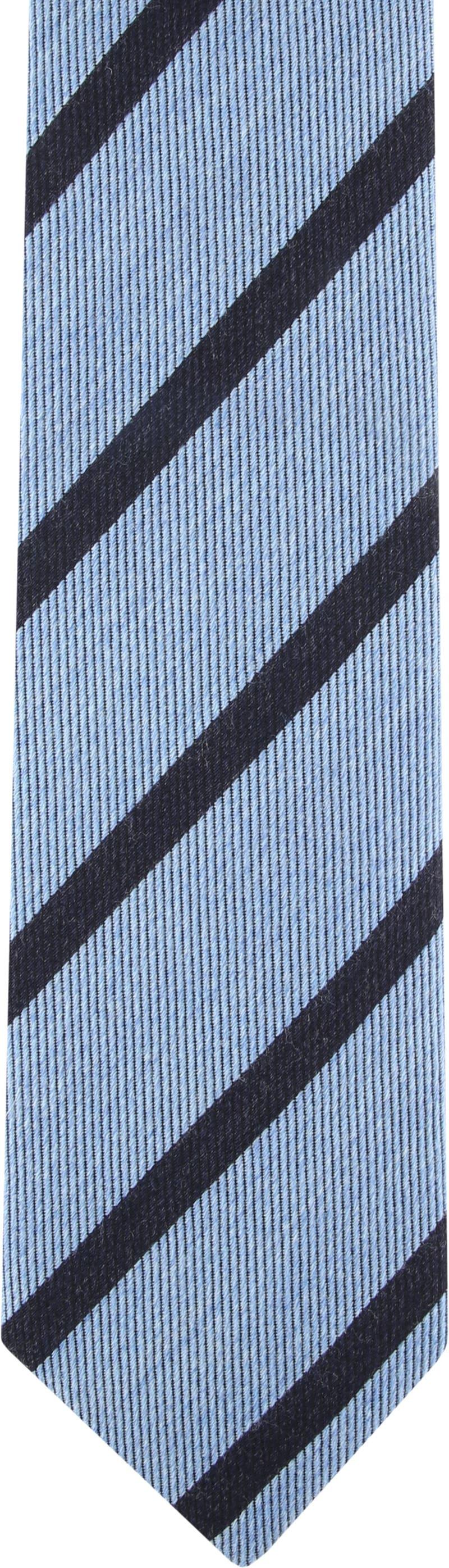 Suitable Krawatte Streifen Hellblau Foto 1