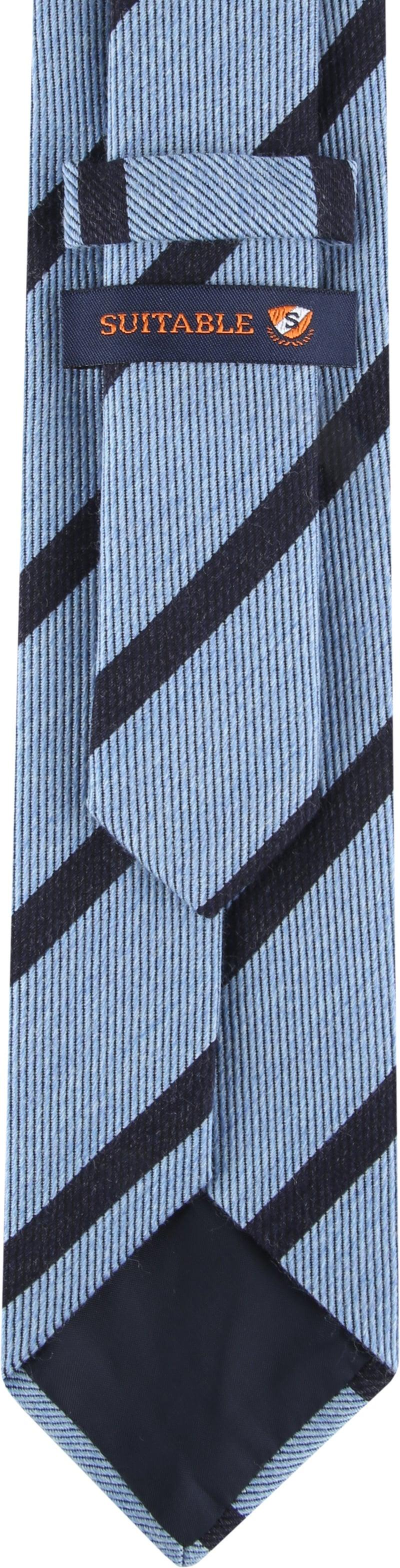 Suitable Krawatte Streifen Hellblau Foto 2