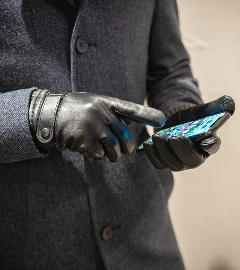 Suitable Lederhandschuhe Touchscreen Foto 3