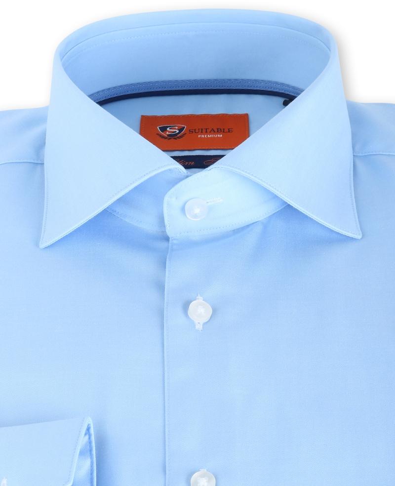 Suitable Lichtblauw Overhemd Slim Fit DR-03 foto 2