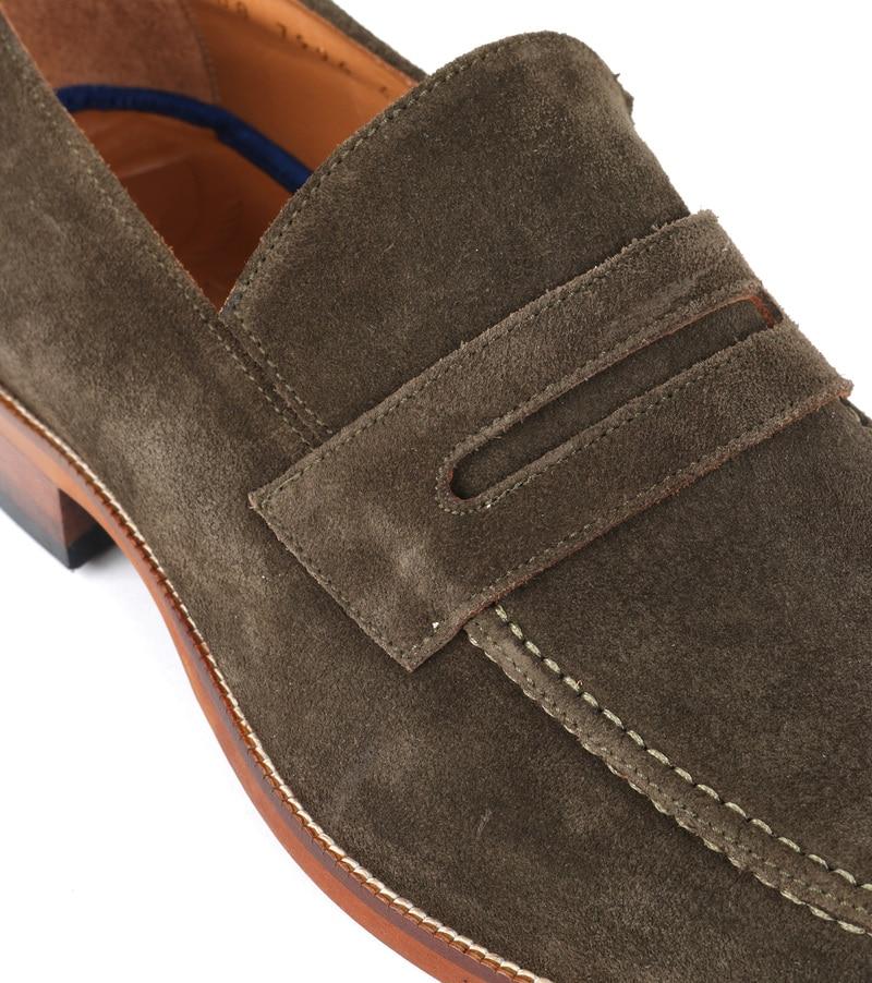Suitable Loafer Suede Groen foto 1