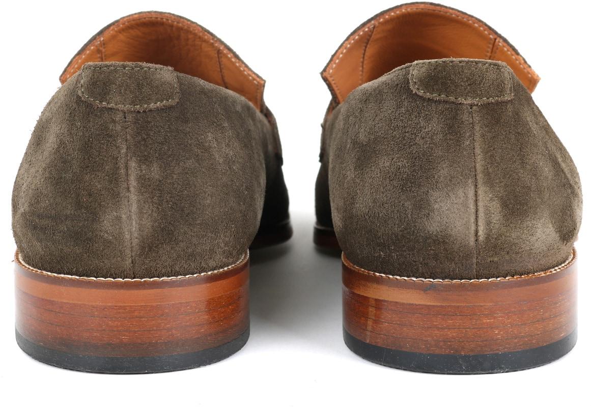 Suitable Loafer Suede Groen foto 3