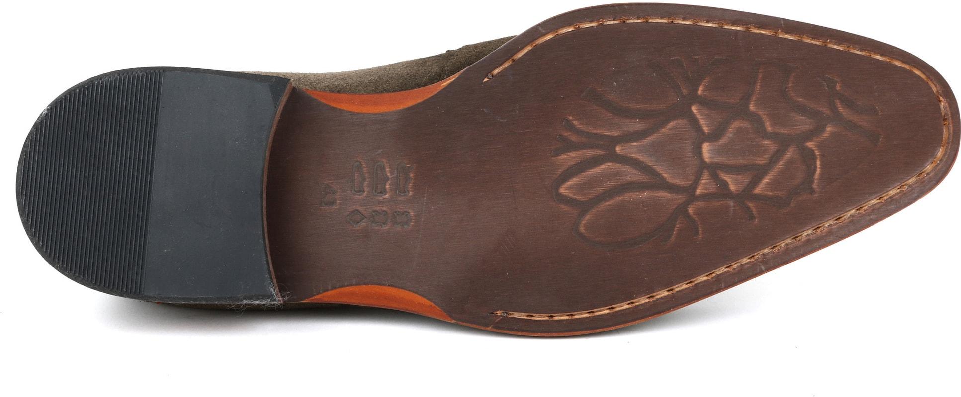 Suitable Loafer Suede Groen foto 4