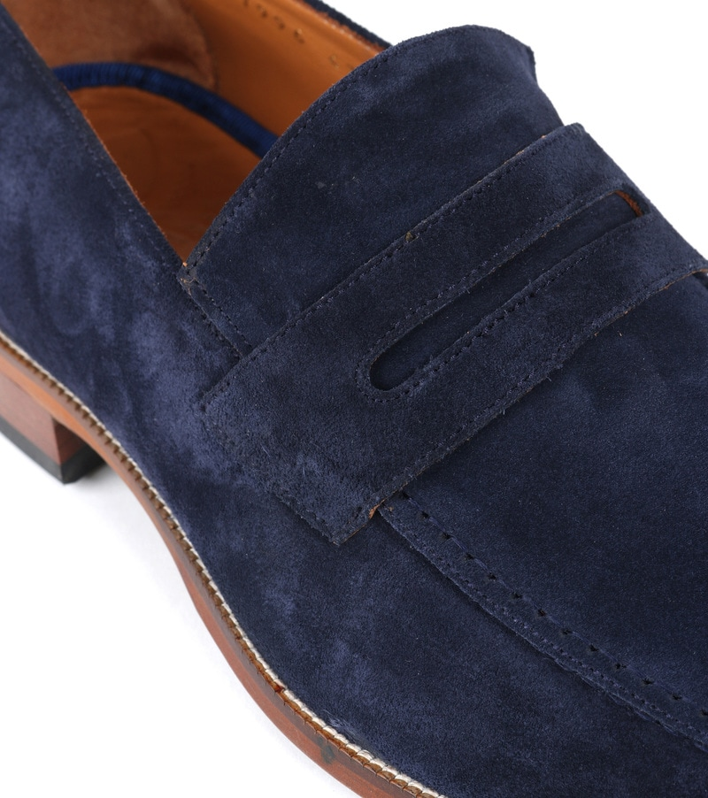 Suitable Loafer Suede Navy foto 1