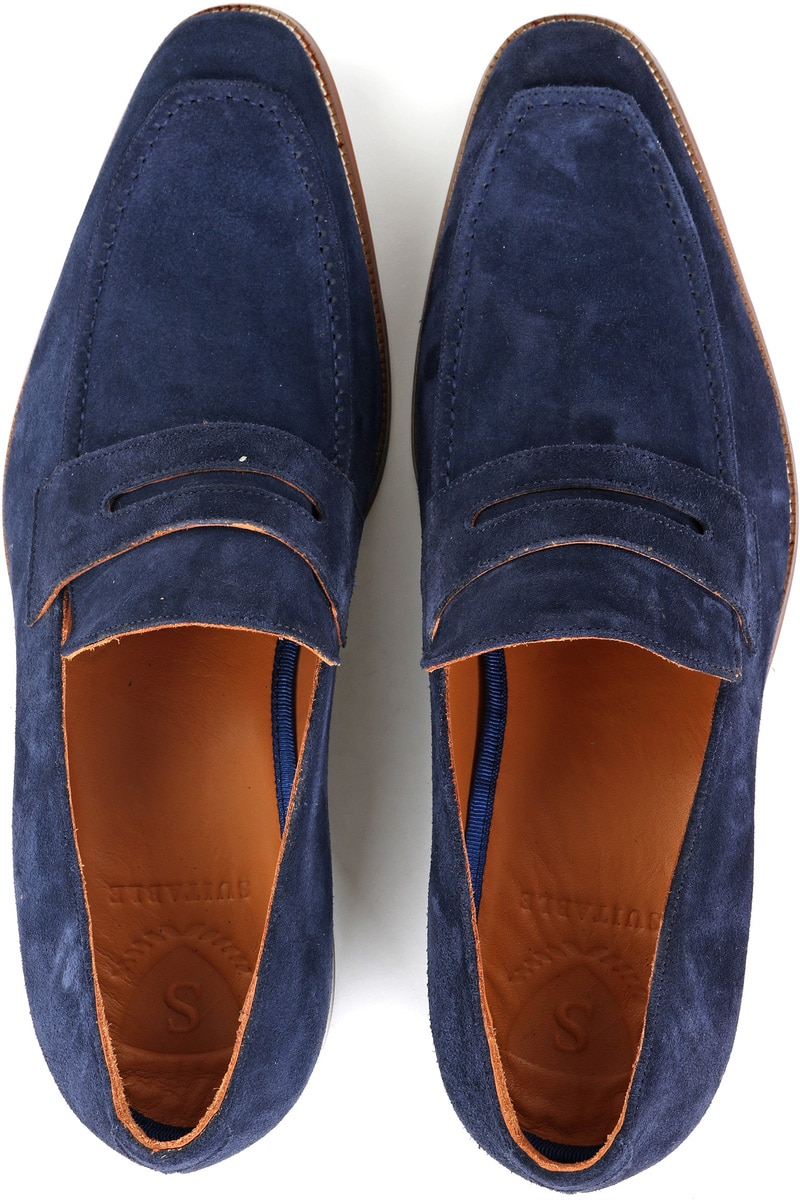 Suitable Loafer Suede Navy foto 2