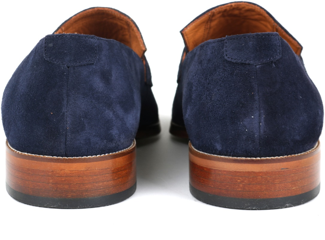 Suitable Loafer Suede Navy foto 3