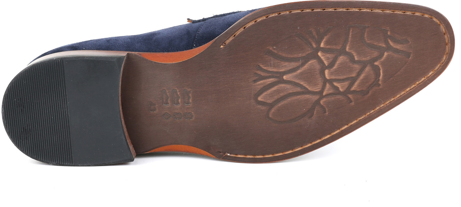 Suitable Loafer Suede Navy foto 4