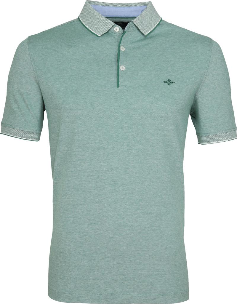 Suitable Melange Poloshirt Groen foto 0