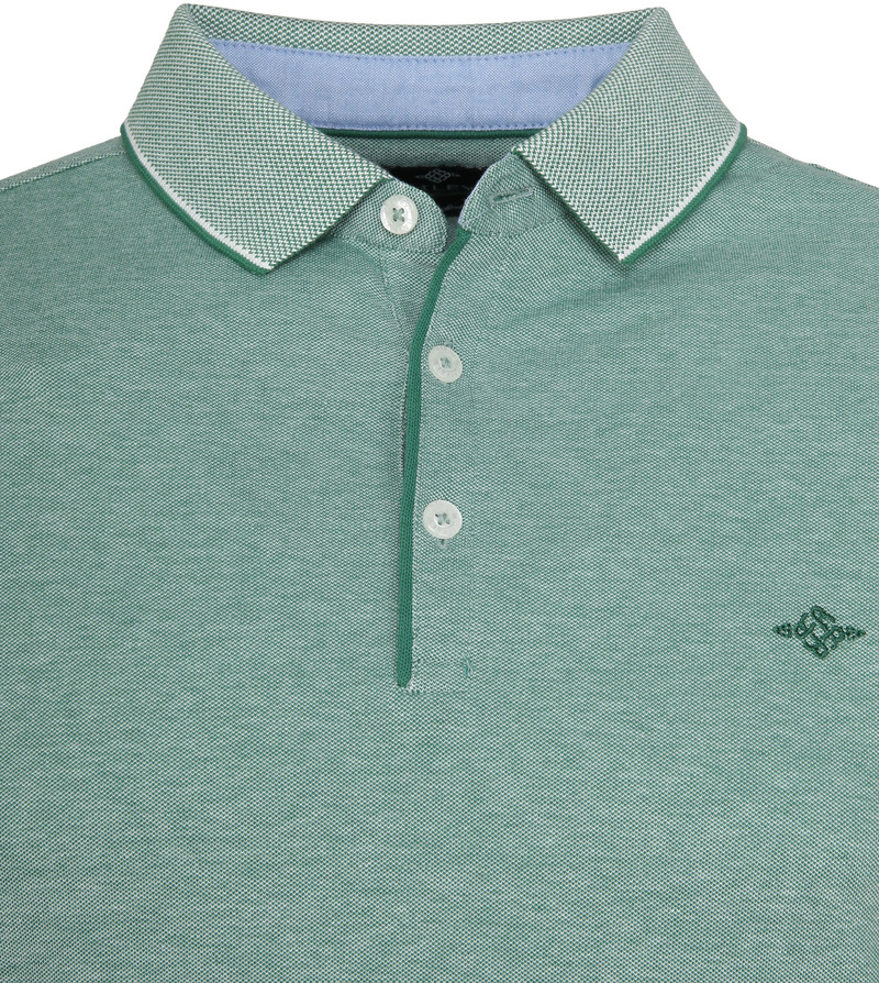 Suitable Melange Poloshirt Groen foto 1