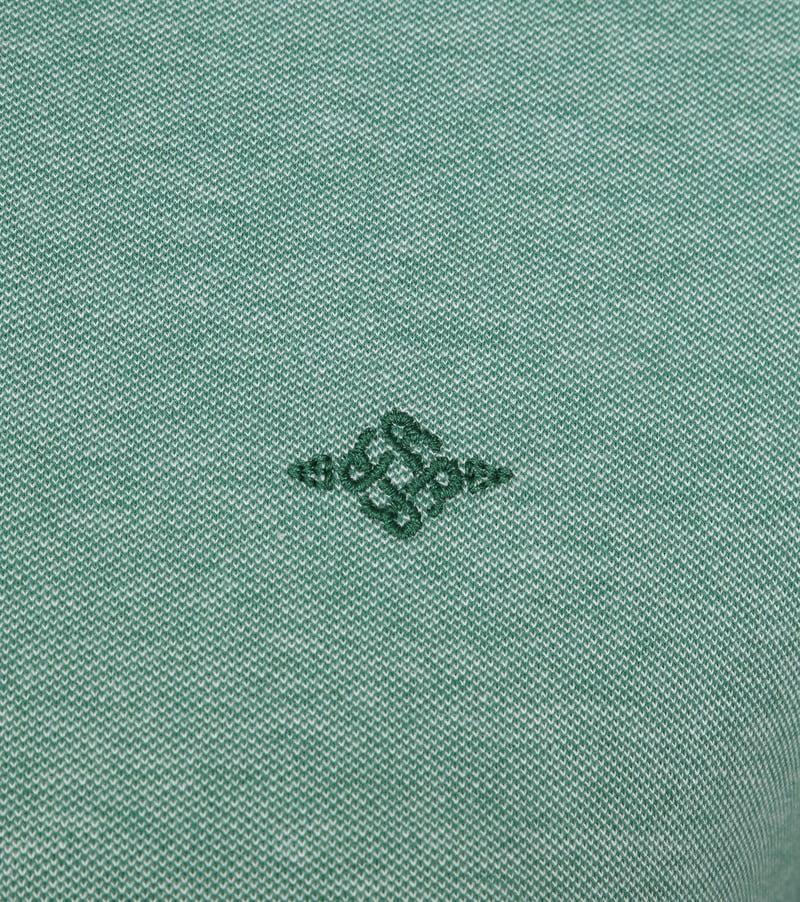 Suitable Melange Poloshirt Groen foto 2