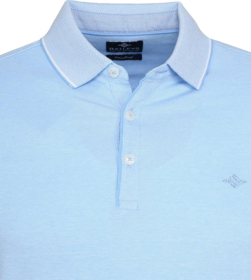 Suitable Melange Poloshirt Lichtblauw foto 1