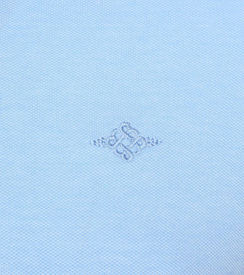 Suitable Melange Poloshirt Lichtblauw foto 2
