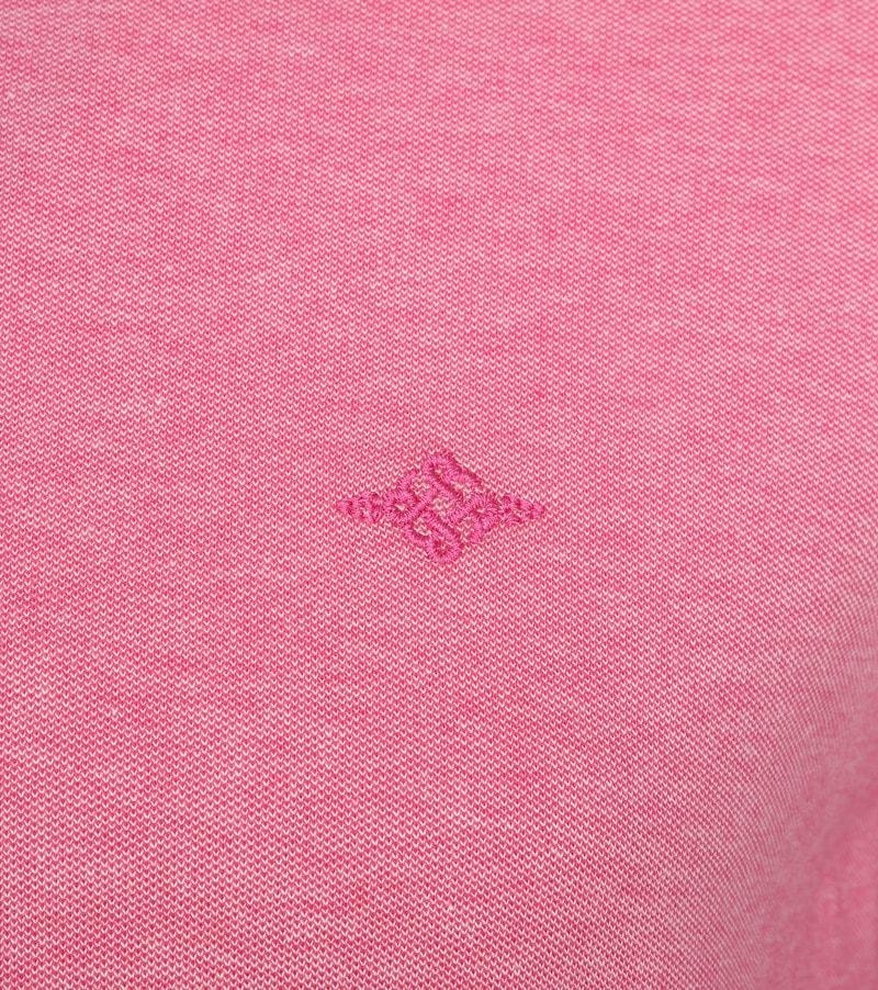 Suitable Melange Poloshirt Pink photo 2