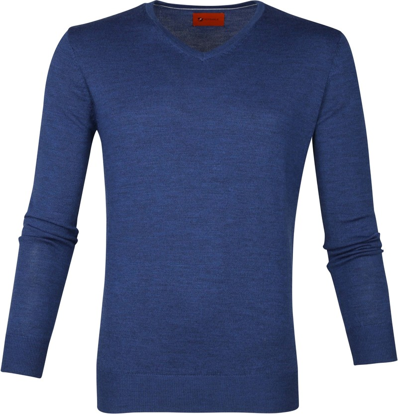 Suitable Merino Pullover Aron Blauw