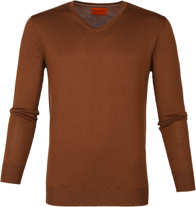 Suitable Merino Pullover Aron Cognac