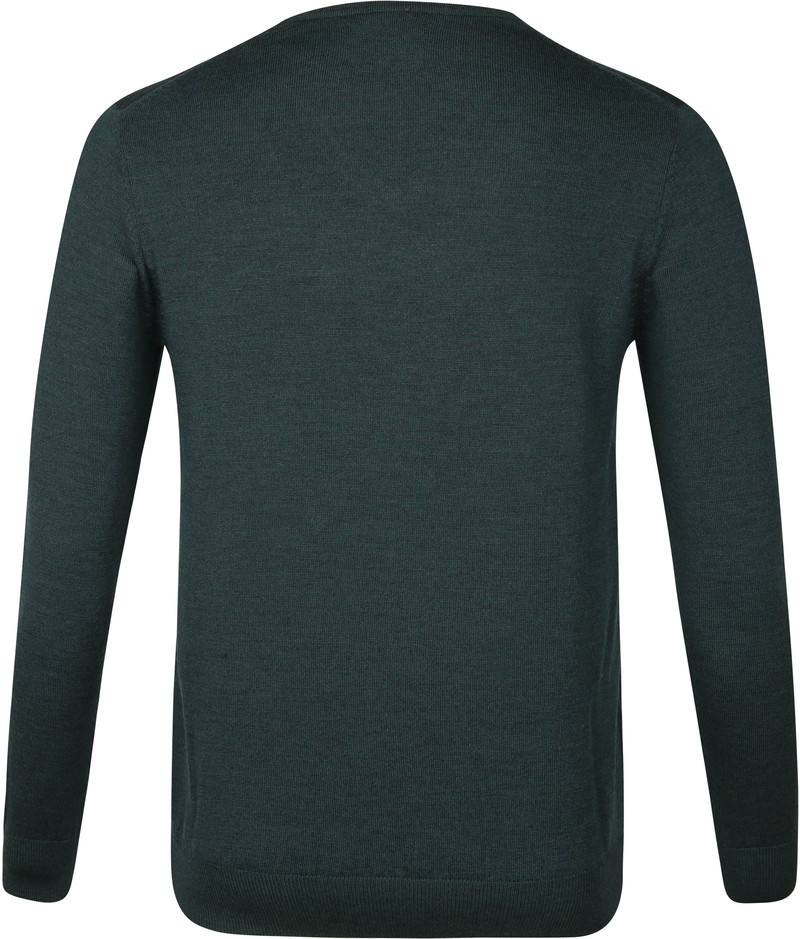 Suitable Merino Pullover Aron Donkergroen