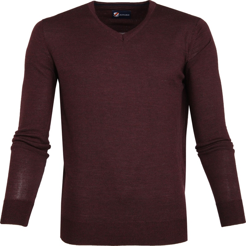 Suitable Merino Pullover Bordeaux foto 0