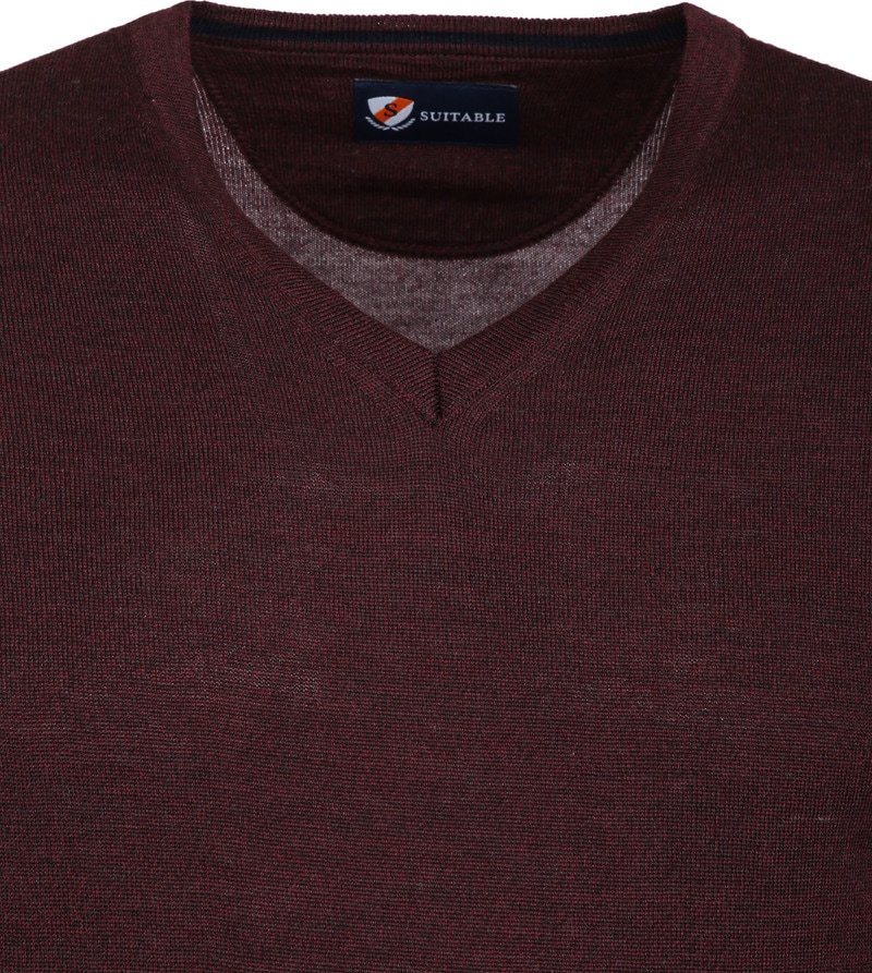 Suitable Merino Pullover Bordeaux foto 1