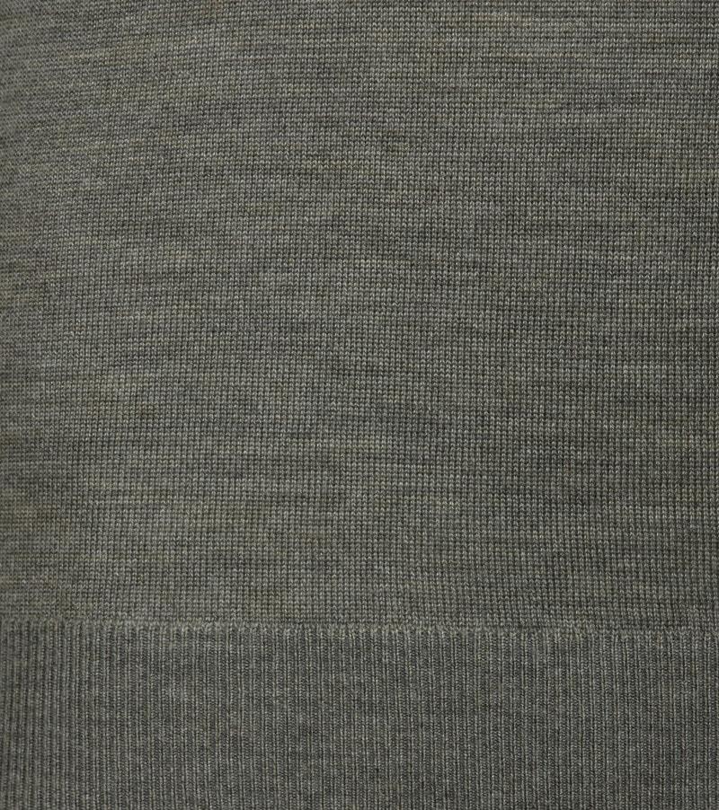 Suitable Merino Pullover O-Hals Groen foto 2