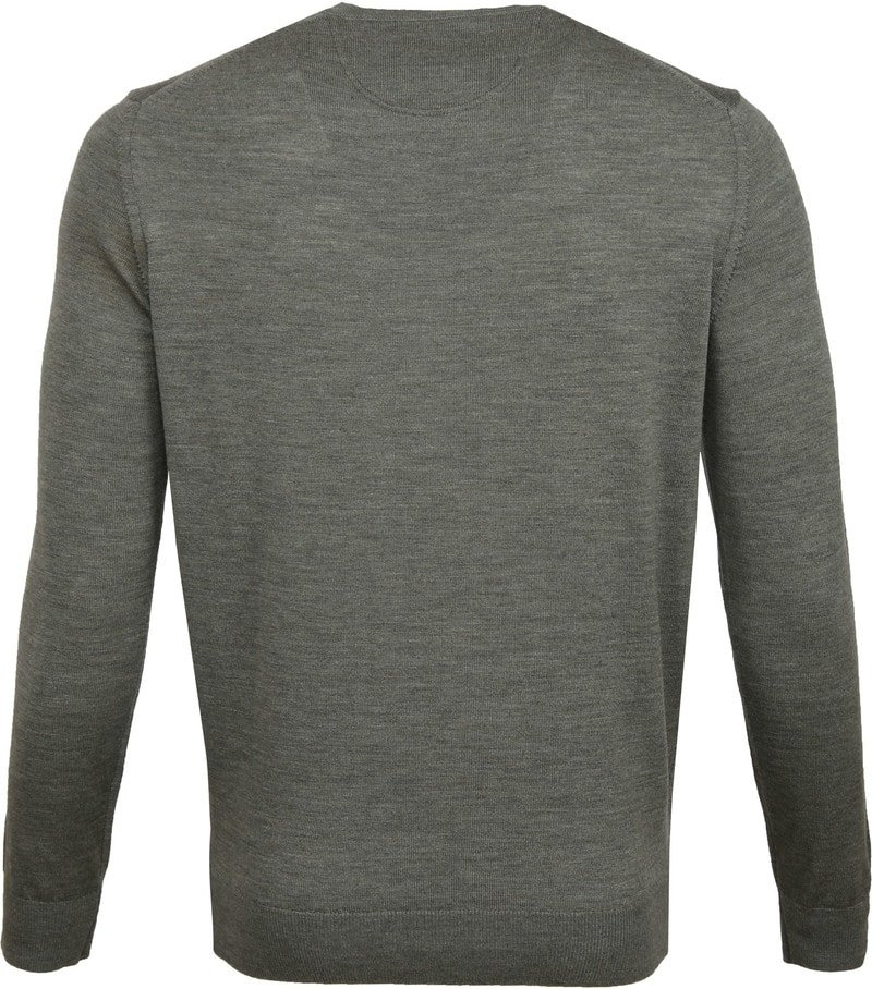 Suitable Merino Pullover O-Hals Groen