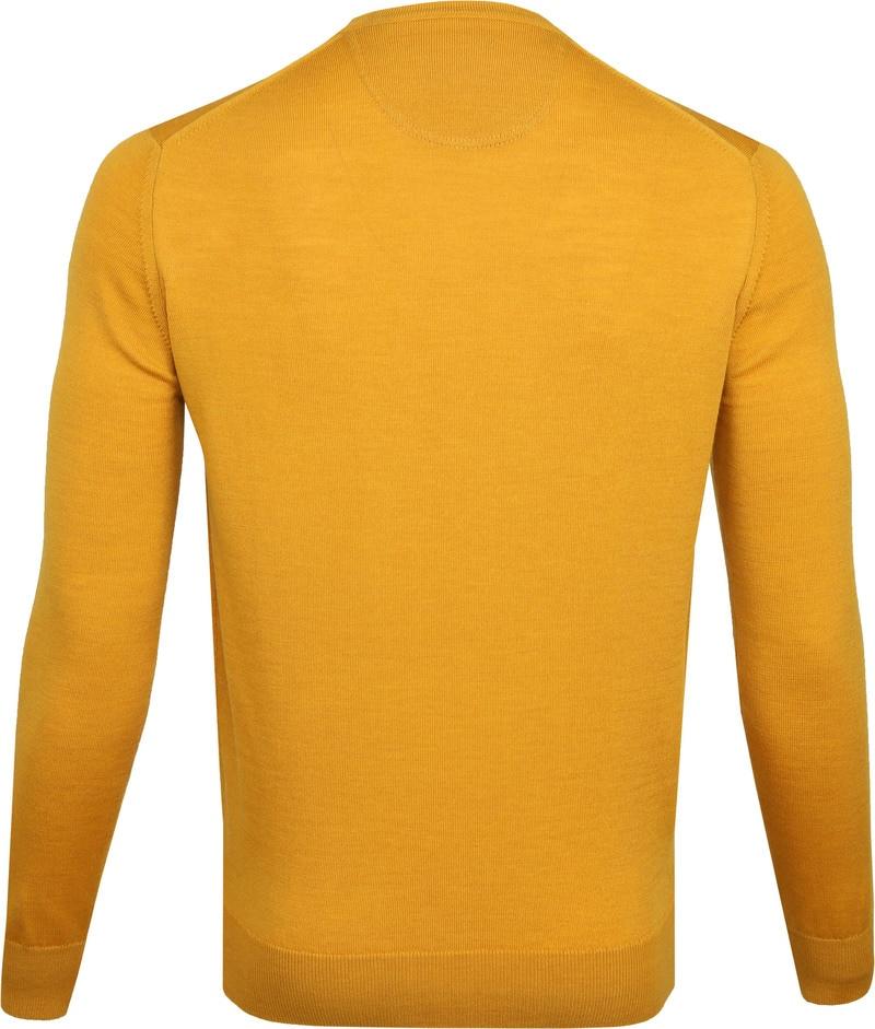 Suitable Merino Pullover O-Hals Okergeel foto 3