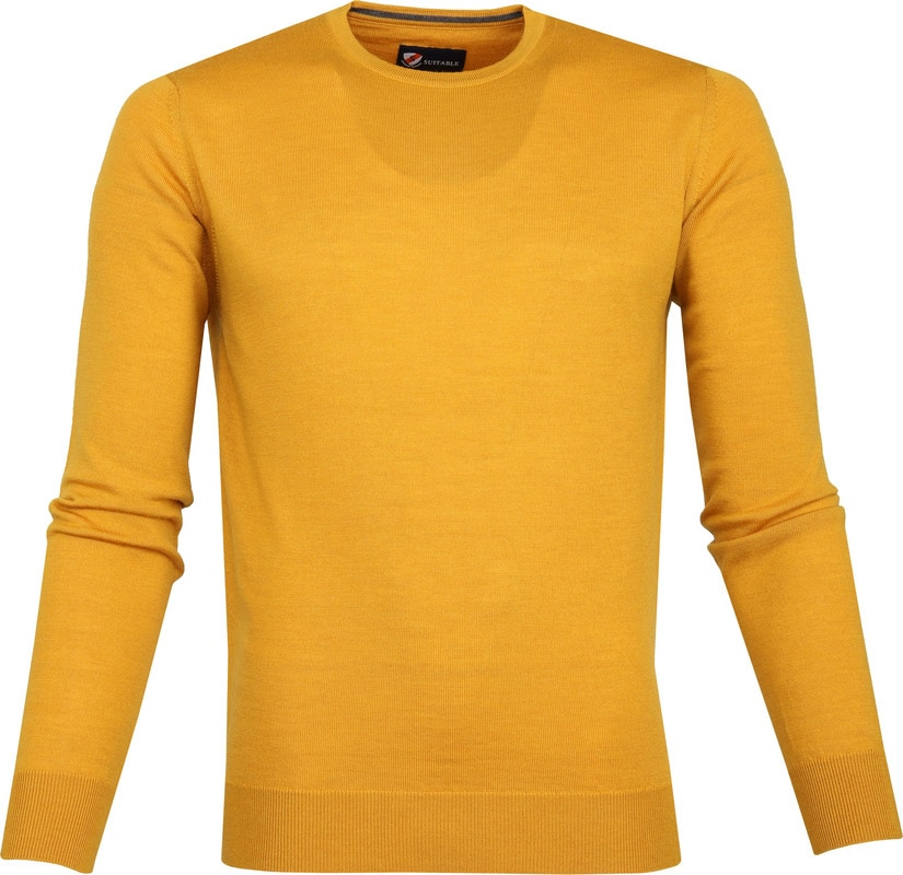 Suitable Merino Pullover R-Neck Ocher photo 0