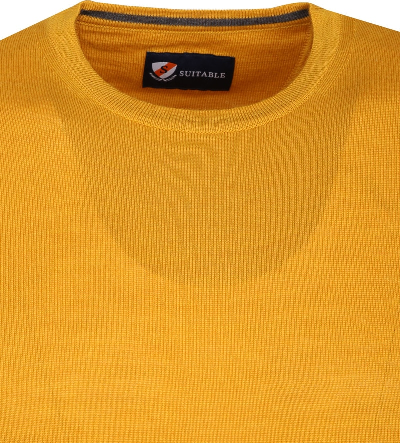 Suitable Merino Pullover R-Neck Ocher photo 1