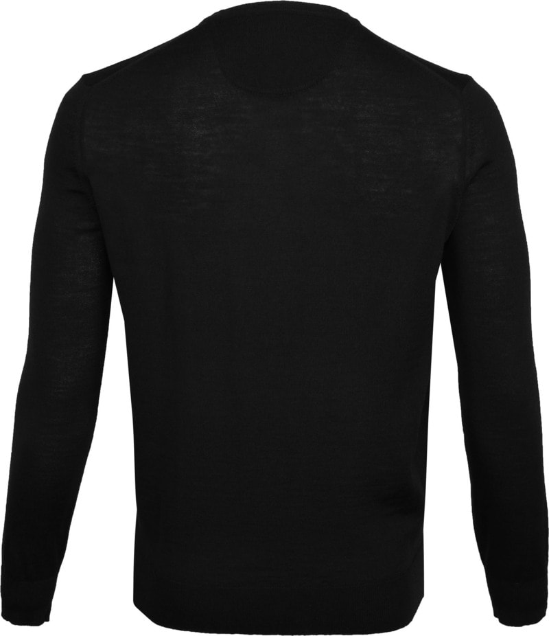 Suitable Merino Pullover Zwart foto 3