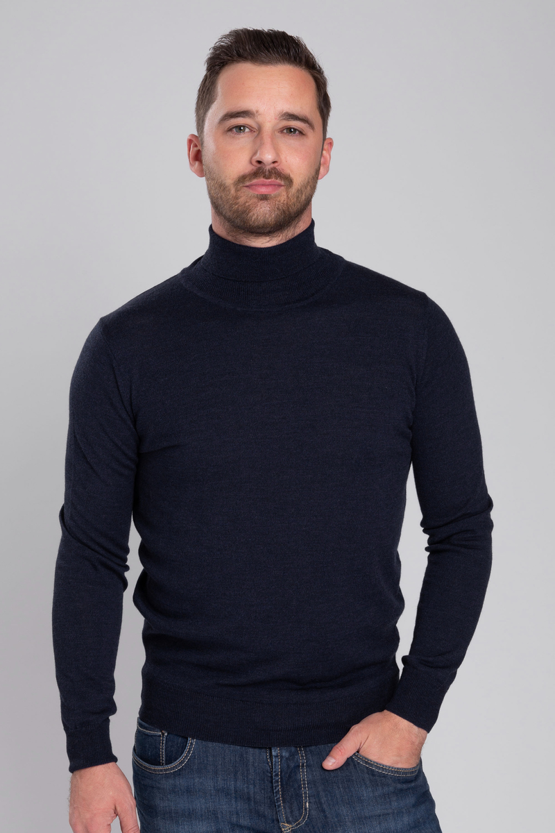 Suitable Merino Turtleneck Navy photo 4