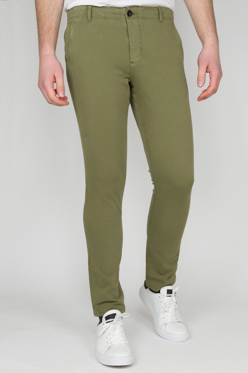 Suitable Milton Skinny-Fit Chino Groen