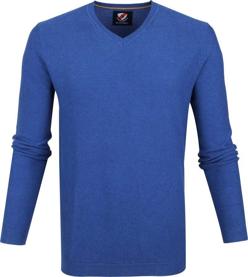 Suitable Neil Pullover Blue photo 0