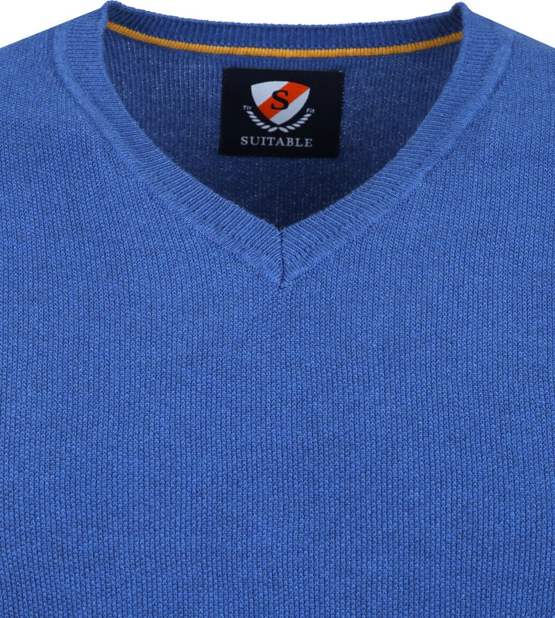 Suitable Neil Pullover Blue photo 1