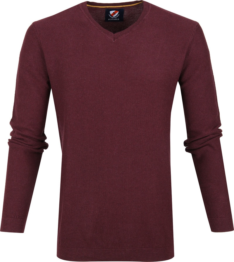 Suitable Neil Pullover Bordeaux foto 0