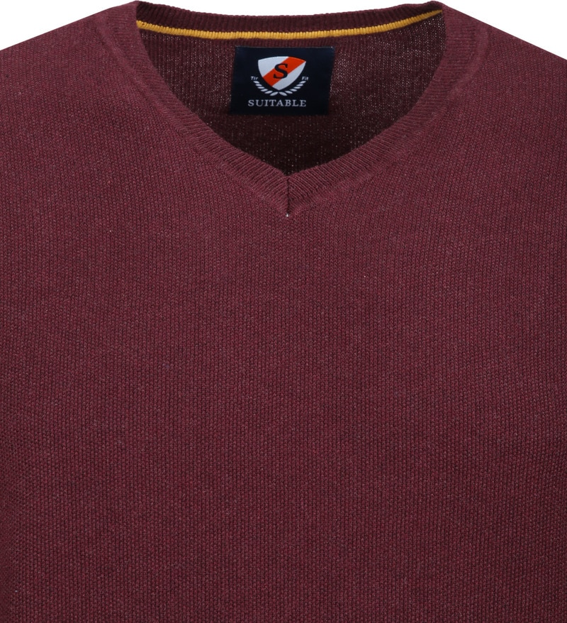 Suitable Neil Pullover Bordeaux foto 1