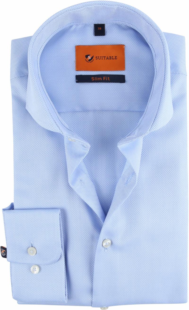 Suitable Non Iron Hemd Blau Foto 0