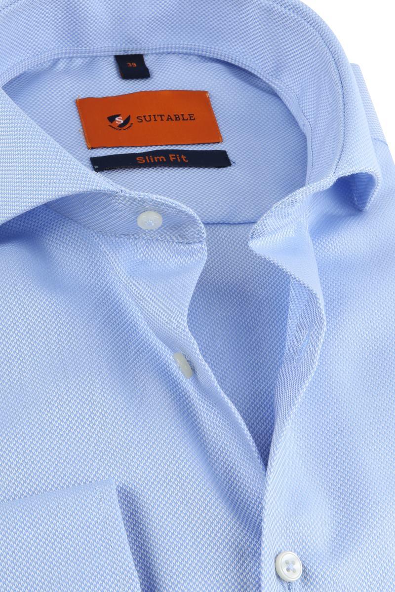 Suitable Non Iron Hemd Blau Foto 1