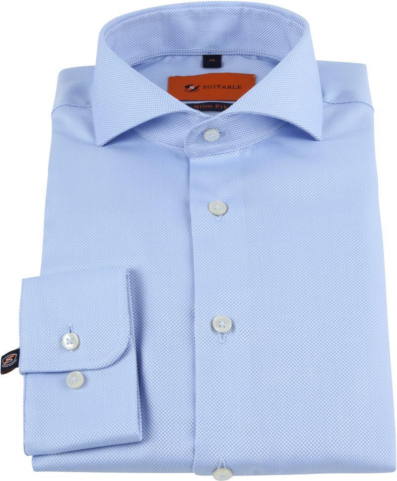 Suitable Non Iron Hemd Blau Foto 2