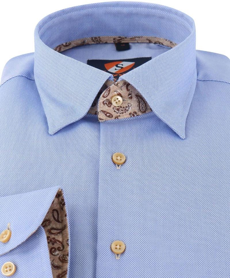 Detail Suitable Overhemd Blauw 149-2
